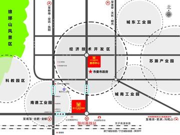 滁州亚太五金机电城交通图