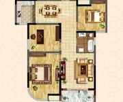 G1户型 三房两厅一卫