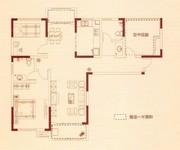 B3户型-两房两厅两卫+空中花园