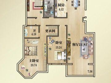 2#K1户型-四室两厅两卫