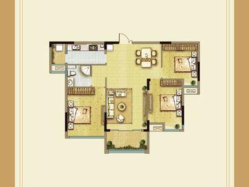 小高层三房两厅一卫
