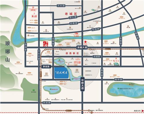 金鹏·清风明月二期交通图