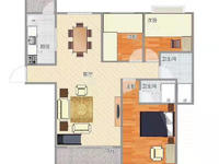 恒大绿洲3室2厅精装修128平 120万