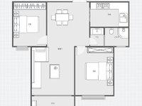 万达旁 紫薇园 80平两室两厅 电梯房中层采光一流 客厅通阳台 诚心出售