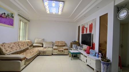 滨河名园,107平,精装全配,一楼挑高,正规三室,南北透通,户型漂亮