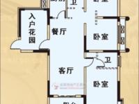 天逸华府桂园4室2厅1卫130平米105万赠送入户花园