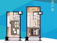 高铁轻轨圈 新一中不远 首付八万复式公寓 便宜出售