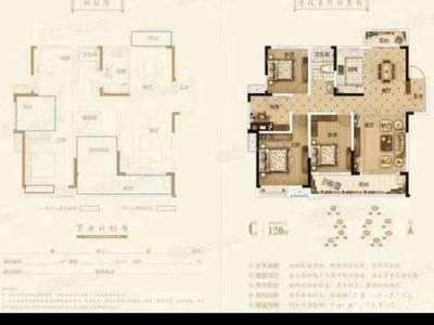 出售北京城建 金城华府4室2厅1卫123平米108.8万住宅
