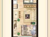 出售滁州创达义乌商贸城旁恩德广场公寓1室1厅1卫面议住宅