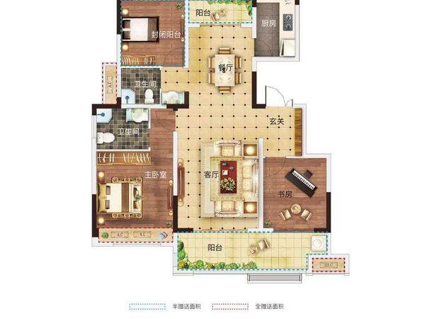 北京城房时代庄园洋房 一梯一户 房型特漂亮 四开间朝南