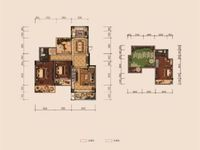 双学区金鹏玫瑰郡洋房顶楼复式,带私家露台,实际使用面积大,小区环境好,