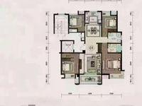 城南洋房珑玺台精装修4室2厅2卫135平米 稀缺户型 位置超好