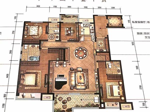 城南绿廊公园湖景 墅境洋房 荣盛华府 4室2卫 一楼带院子送地下室