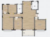益林铭府洋房总高11层的10楼130平毛坯四室两厅两卫无税报价104万可谈