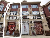 城南陇熙庄园 工程款一拖二门面 售楼部更名 无税费