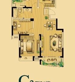 C2型6#楼三室两厅一卫