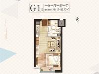 出租苏宁雅悦7楼,50平米,一室一厅,精装全配,拎包即住1500元/月